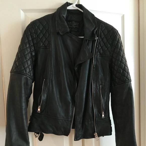 5ab930fdc56b All Saints Jackets   Blazers - All saints women s leather moto jacket.